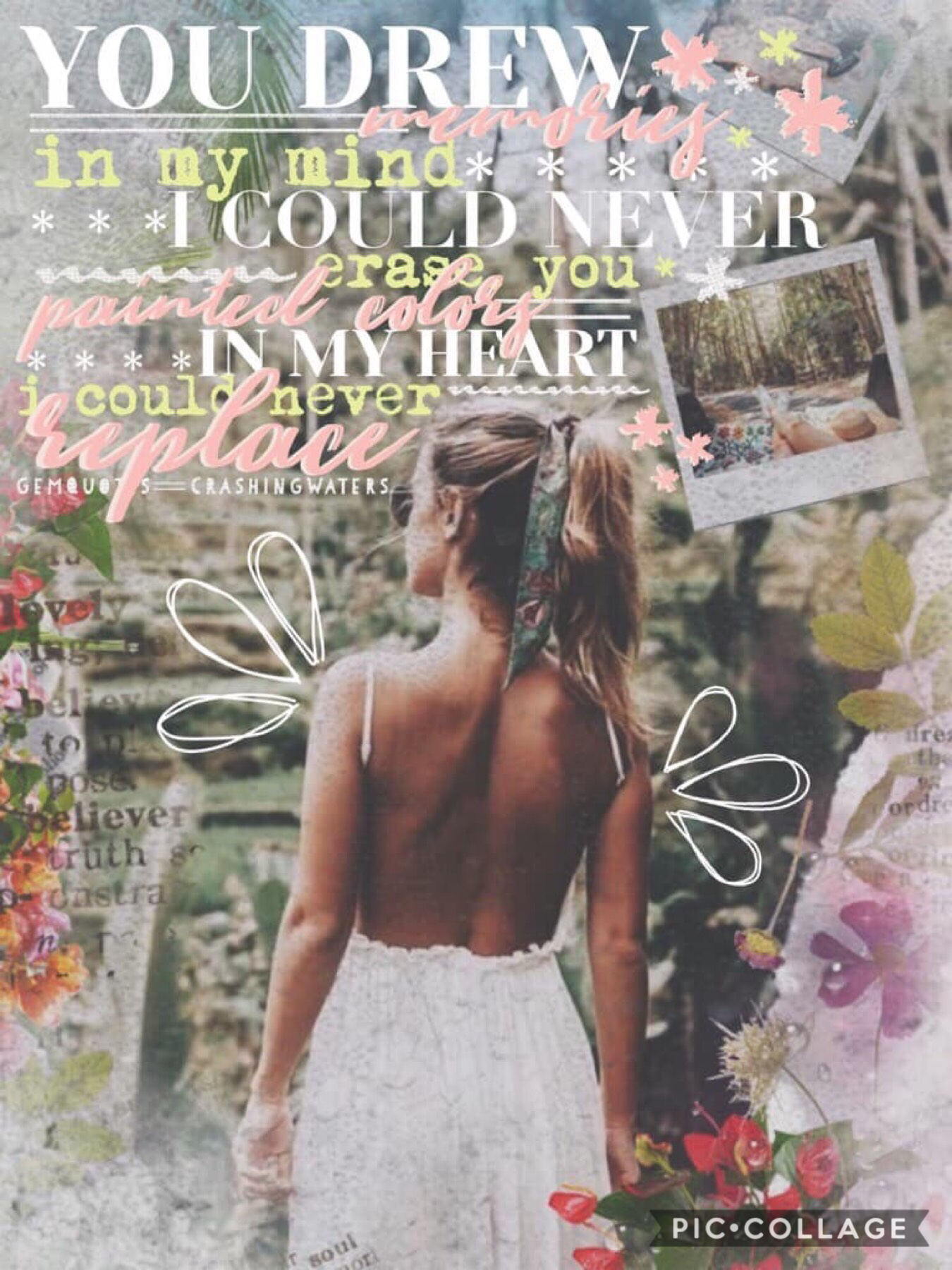 Collab with the absolutely incredible gemquotes!💓 Every single on of her collages are stunning, she did the absolutely stunning text for this collage ❤️❤️School has been so busy 😂I've had so many homework's and tests but I'll definitely try to post and ch