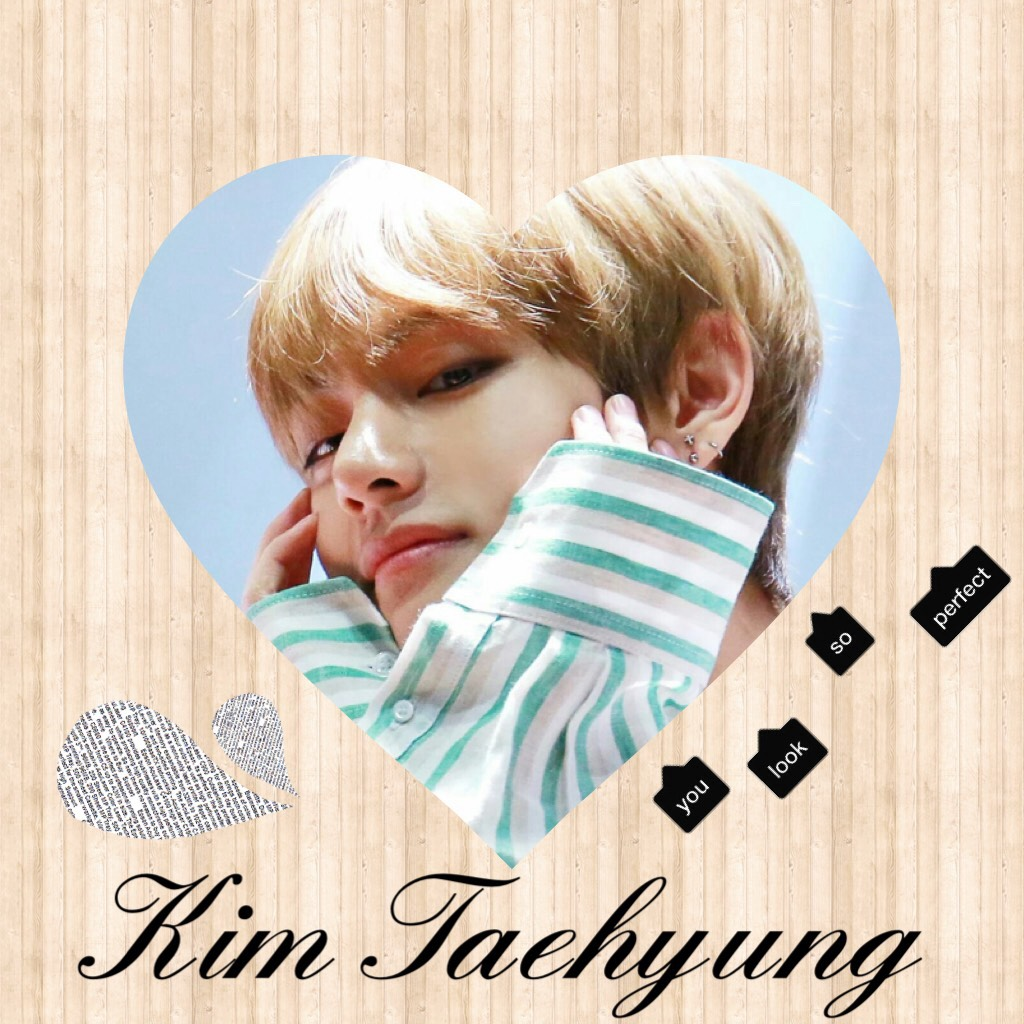 This is Kim Taehyung/ V from BTS.. It's just a quick one as I'm really tired