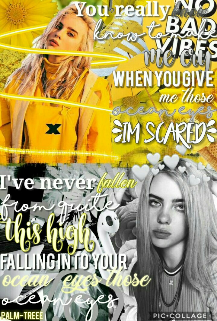 Billie Eilish Edit 😍😍 (Tap)  I kinda like how this turned out, but let me know what you think :)  Im working on the collabs so please dont be upset if i take long😂  Like if you like Billie Eilish  Im gonna try something...  tags: Billie Eilish, feature, y