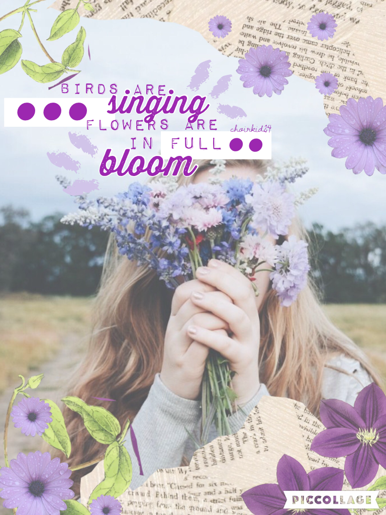 You guys! I am so sorry for my inactivity. I've had so much basketball the past few weeks, so it was hard to make collages. But I'm back now, and this is inspired by Triplet-klf! It's so warm outside where I live today! 💜