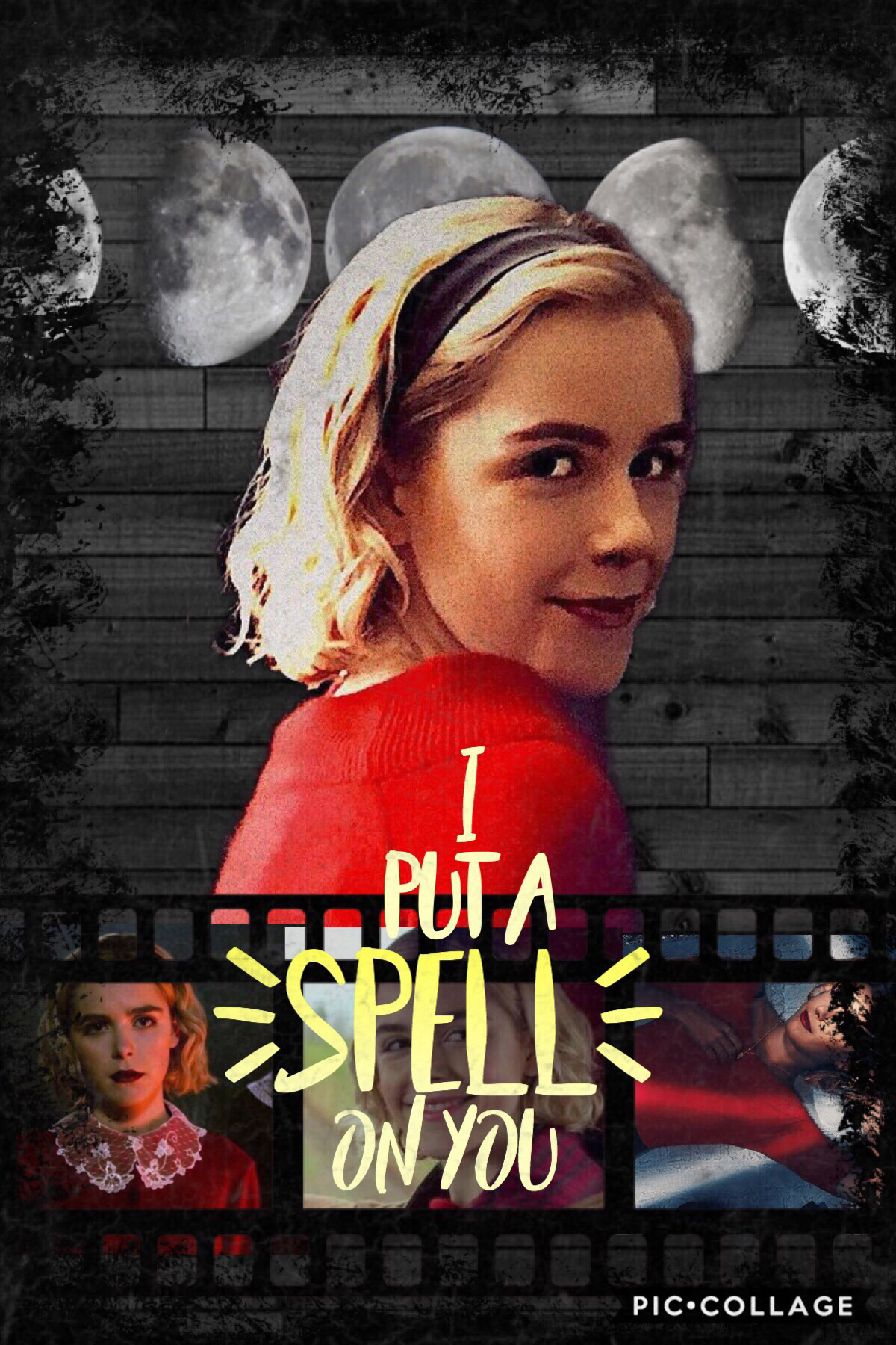 Tap🐄 Okay so real talk, I started watching Chilling Adventures of Sabrina last night and it's actually really good, so i just had to make an edit!  QOTD: What's a song you've been obsessively listening to?