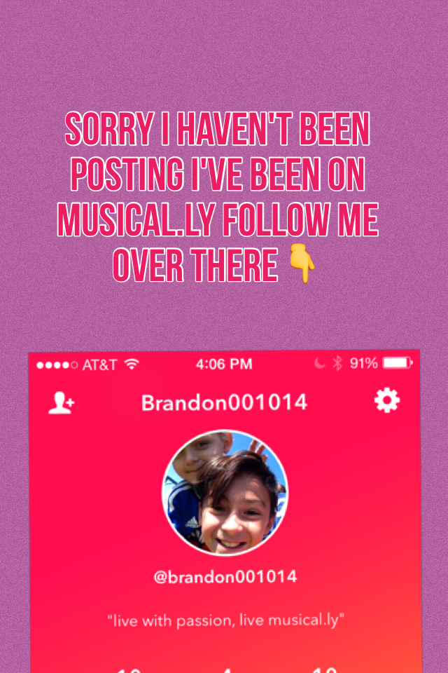 Sorry I haven't been posting I've been on musical.ly follow me over there
