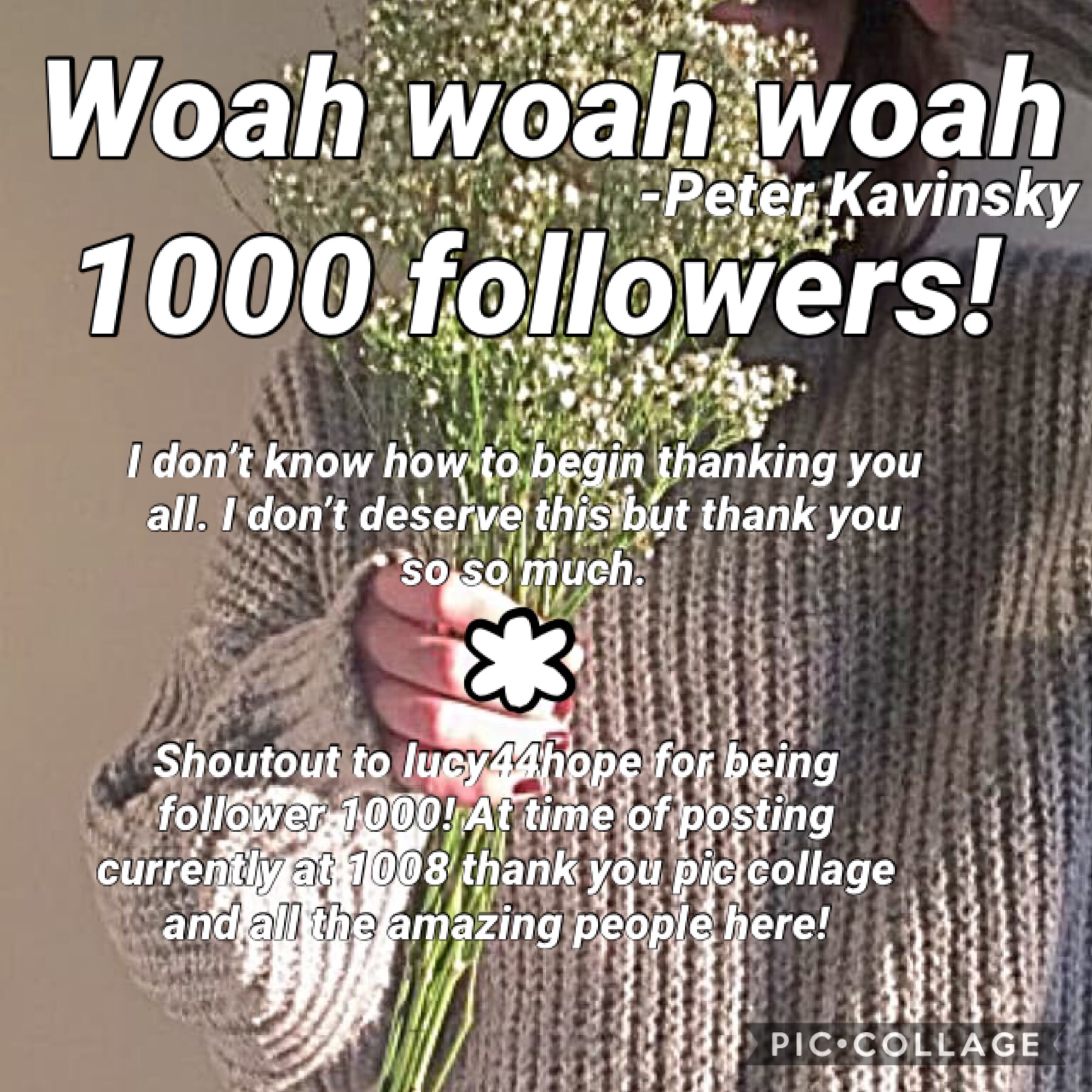 Thank you so so much!!! I'll post a contest soon to commemorate