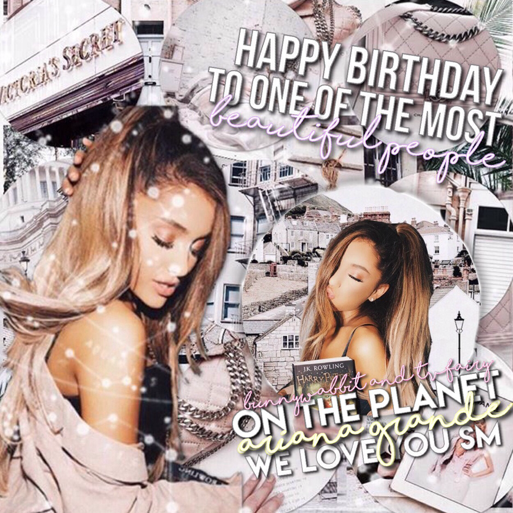 happy bday to the beautiful ari ilysm 😻👼🏼💓 this is a collab with my lovely bestie @tvfairy !! ☁️⭐️