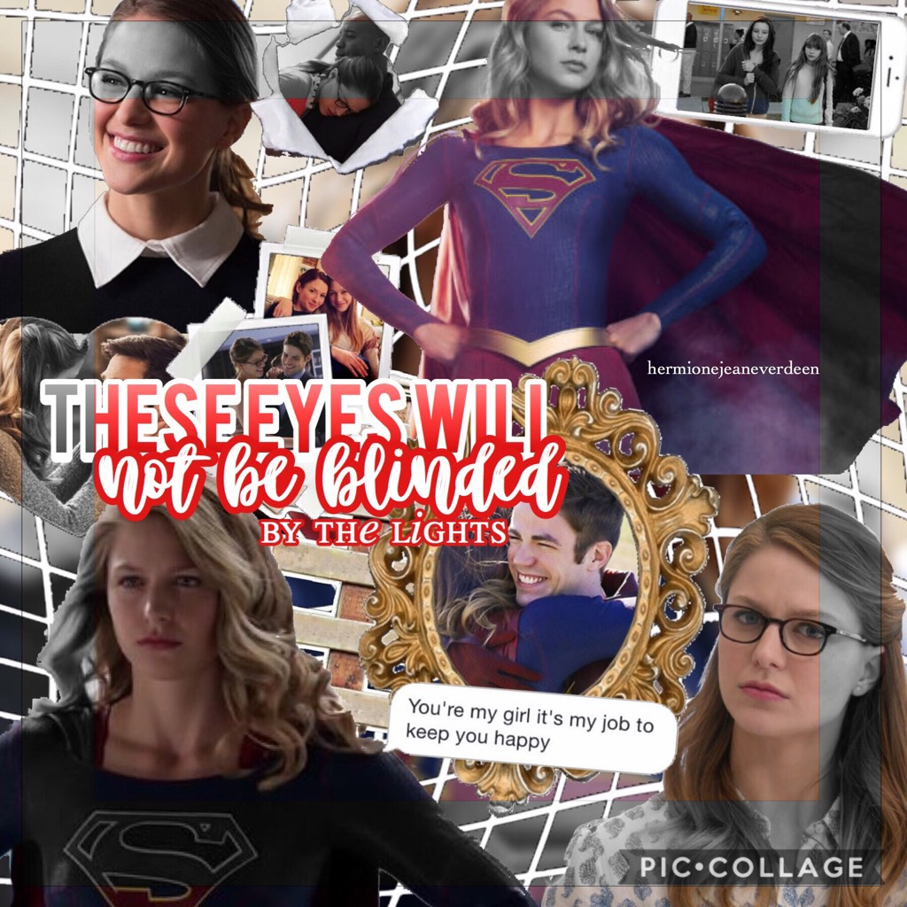 tap first of all I don't ship Barry and Kara, there's a text message on their picture that may suggest it but I don't, it just fit there but no offense to anyone that does. second, I actually really like how this turned out. it would be great if you could