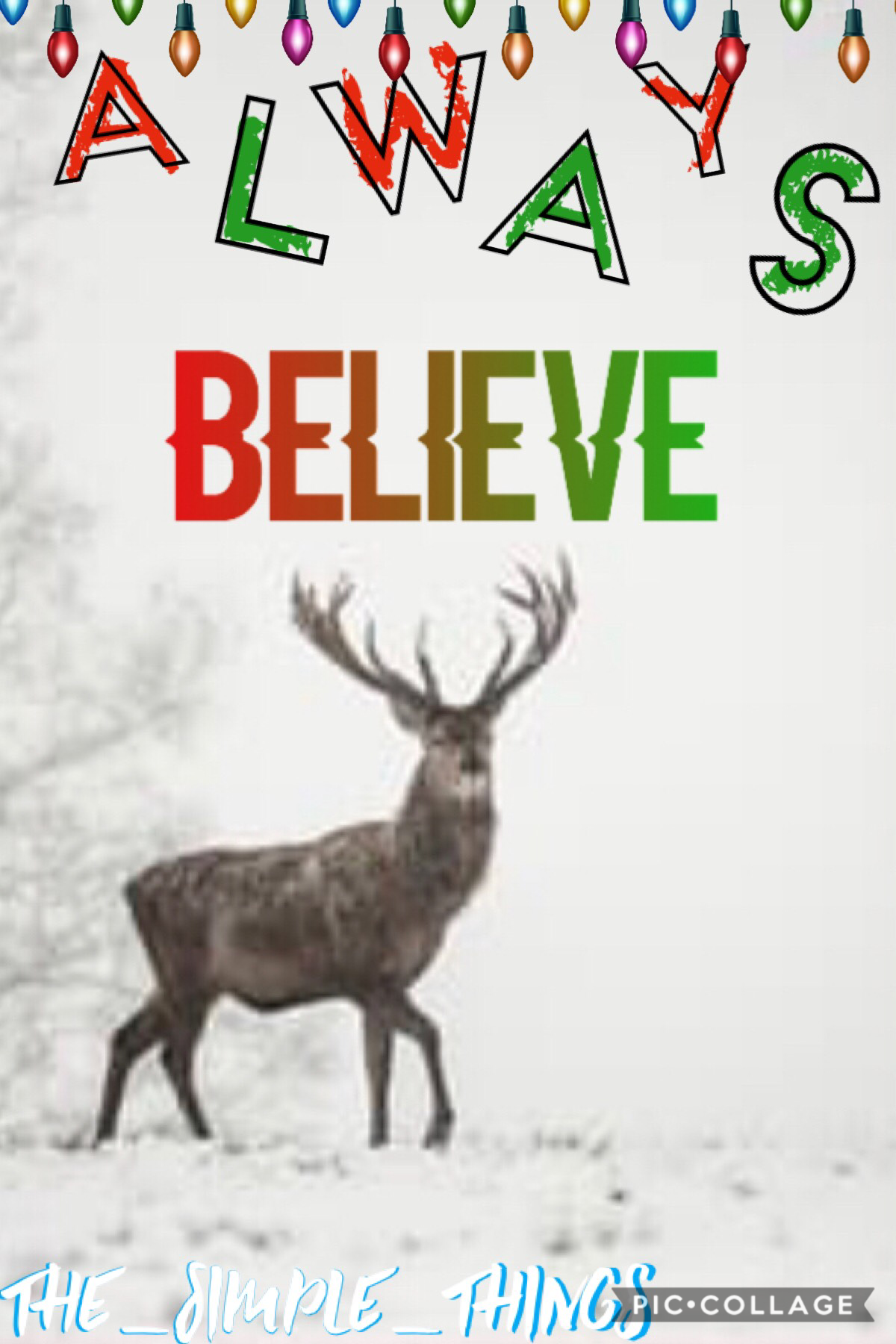 Always Believe! QOTD: Would you like to collab? AOTD: It's up to you!  If you would like to collab the theme is Christmas/Winter
