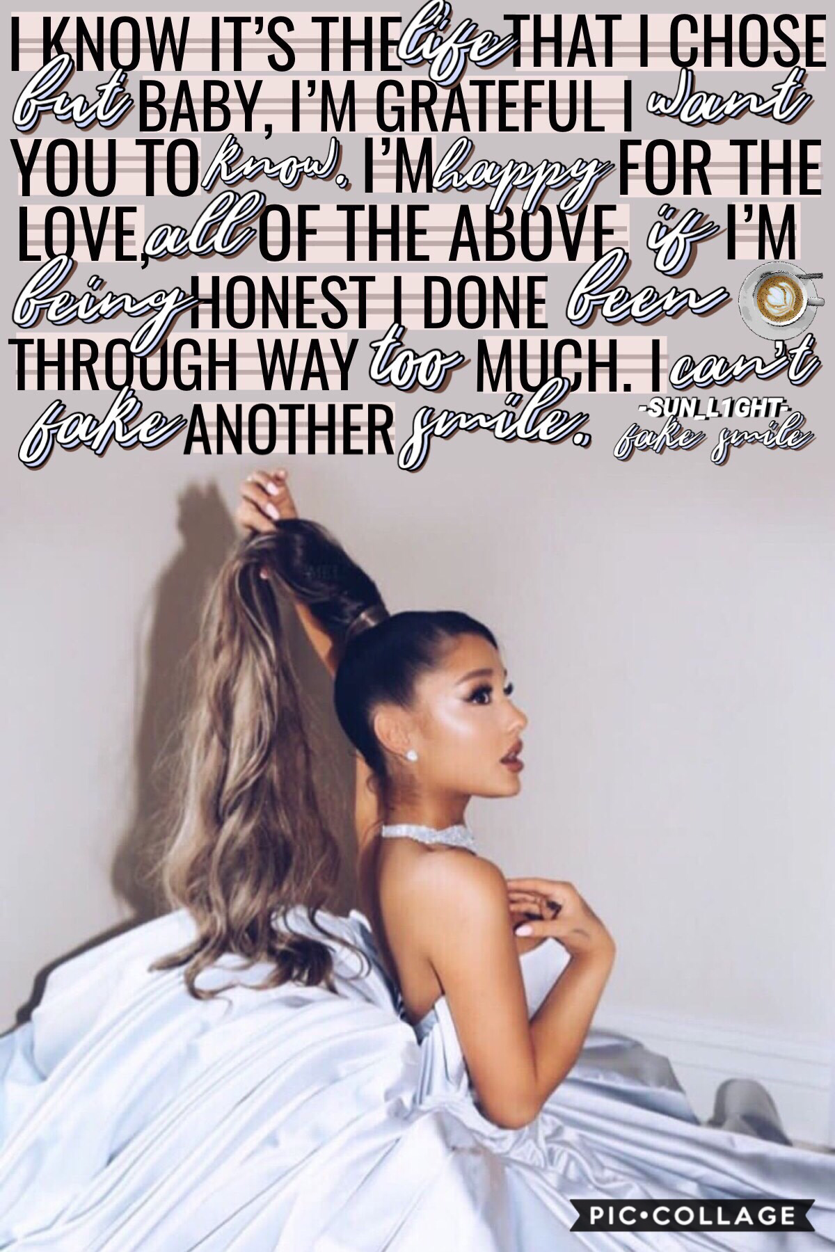 ➳》tap《↞ 'fake smile' by Ariana Grande ☕️ 👄  qotd: what's the weather like?🌱🍃 aotd: sun showers🌦☔️ ❝30-3-19❞