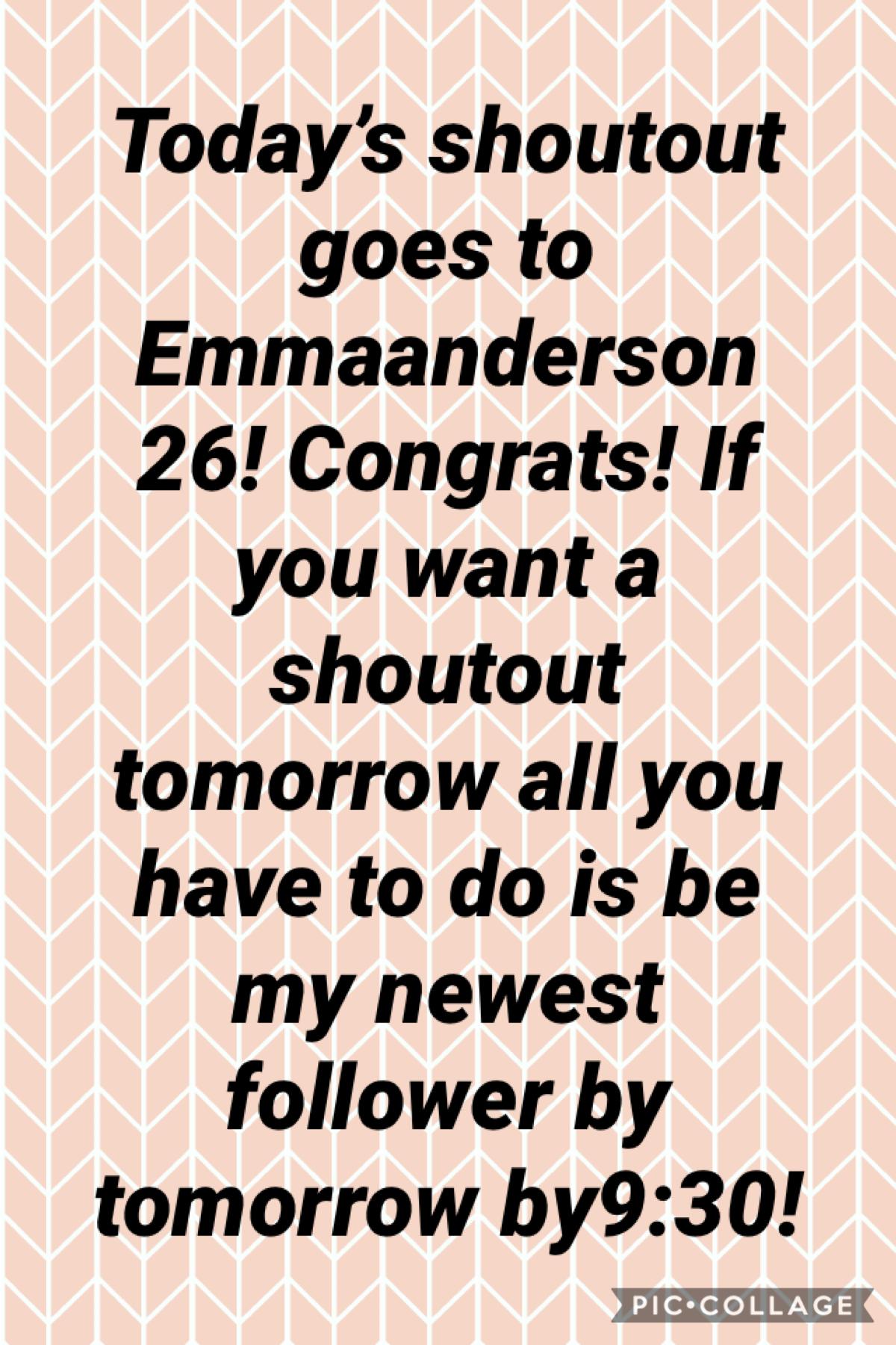 Congratulations Emmaanderson26!
