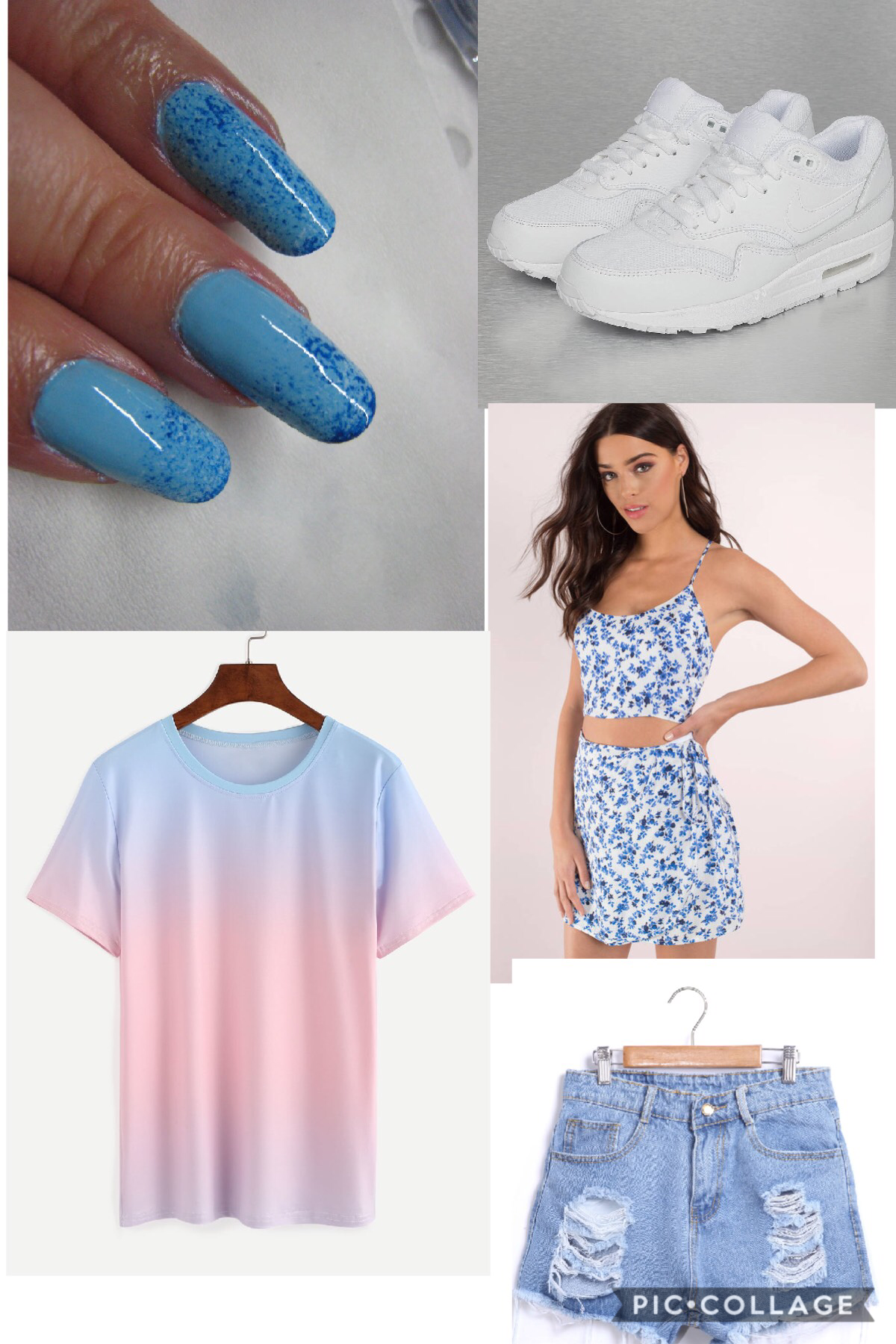 Fashion tip blue and white....