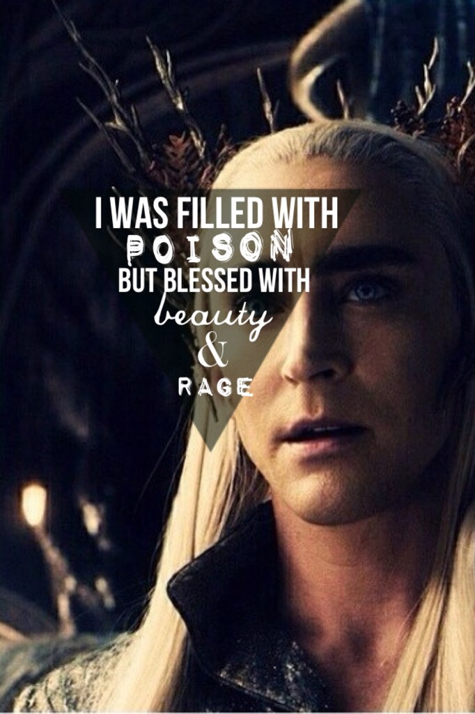 🖤 // tbh im still in love with thranduil y'all.. also this edit is old sorry but im still really proud of it