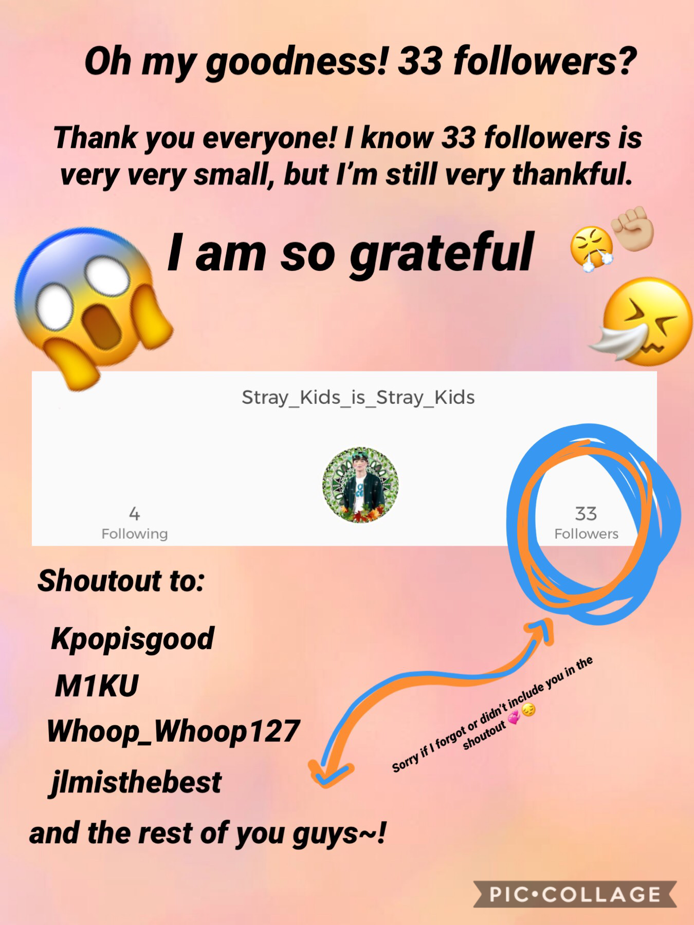 - 🤗 -  Thanks y'all~  Again, I'm sorry if I didn't include some of the ones I missed in the shoutout 😬😓  33 is such a random # 😂