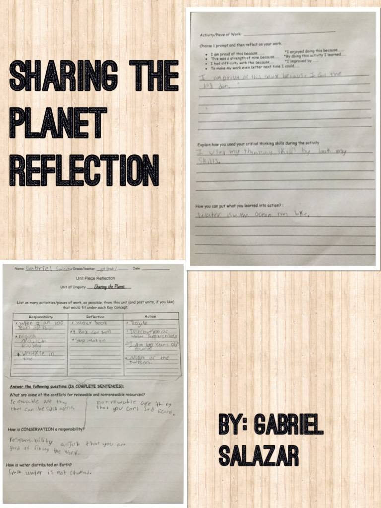 Sharing the Planet Reflection