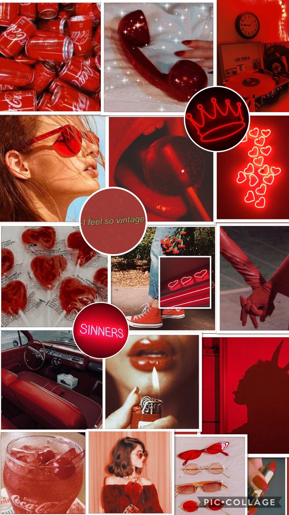 Red aesthetic wallpaper🍒