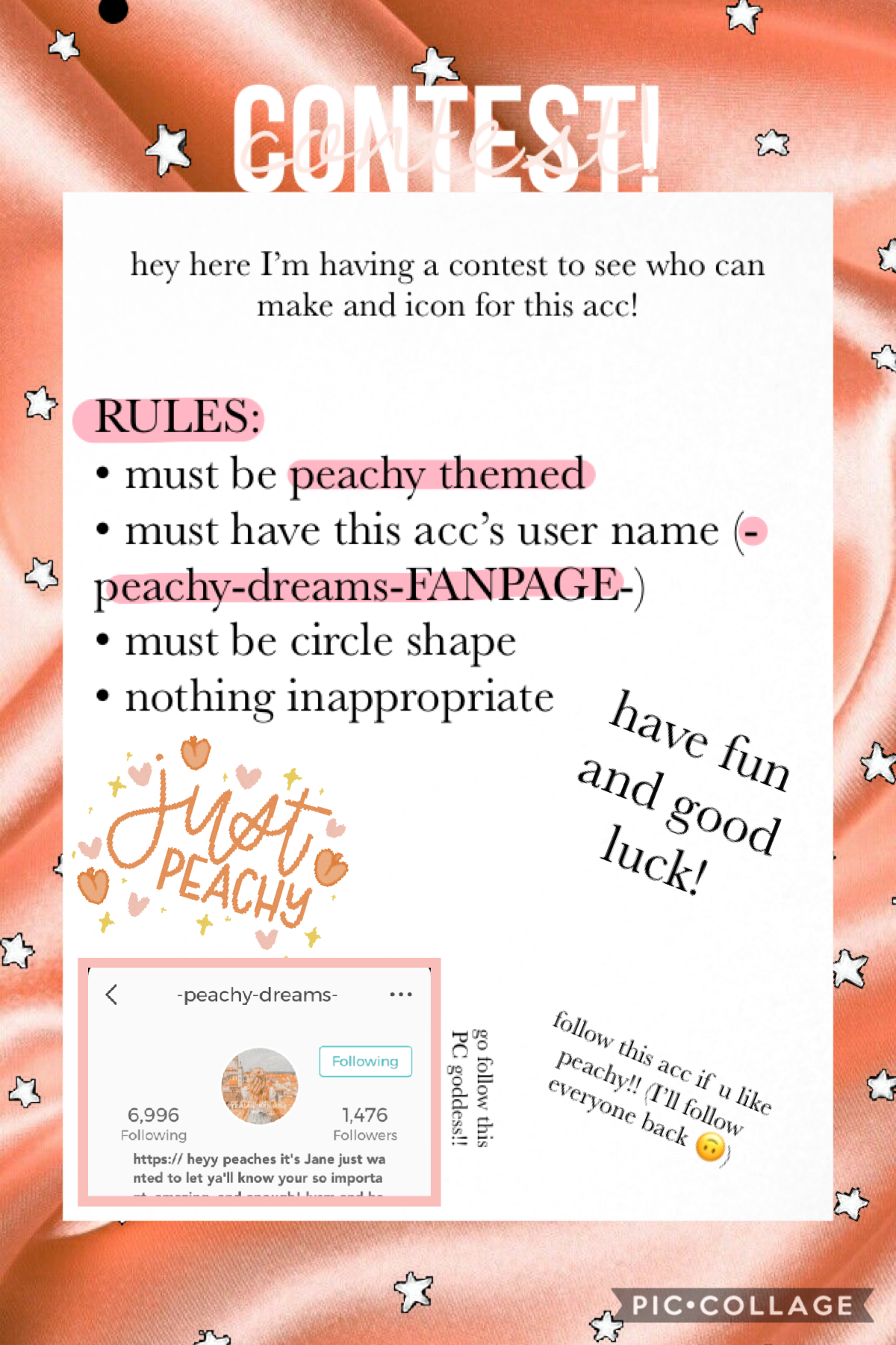 🍑CONTEST {tap}🍑  Pls make an icon!! Prizes in remixes...🤭🍑  FOLLOW PEACHY SHE IS BEAUTIFUL AND KIND AND AMAZING