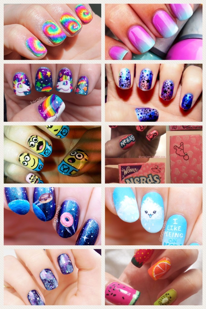 Nail art. Growing my nails out for the summer.