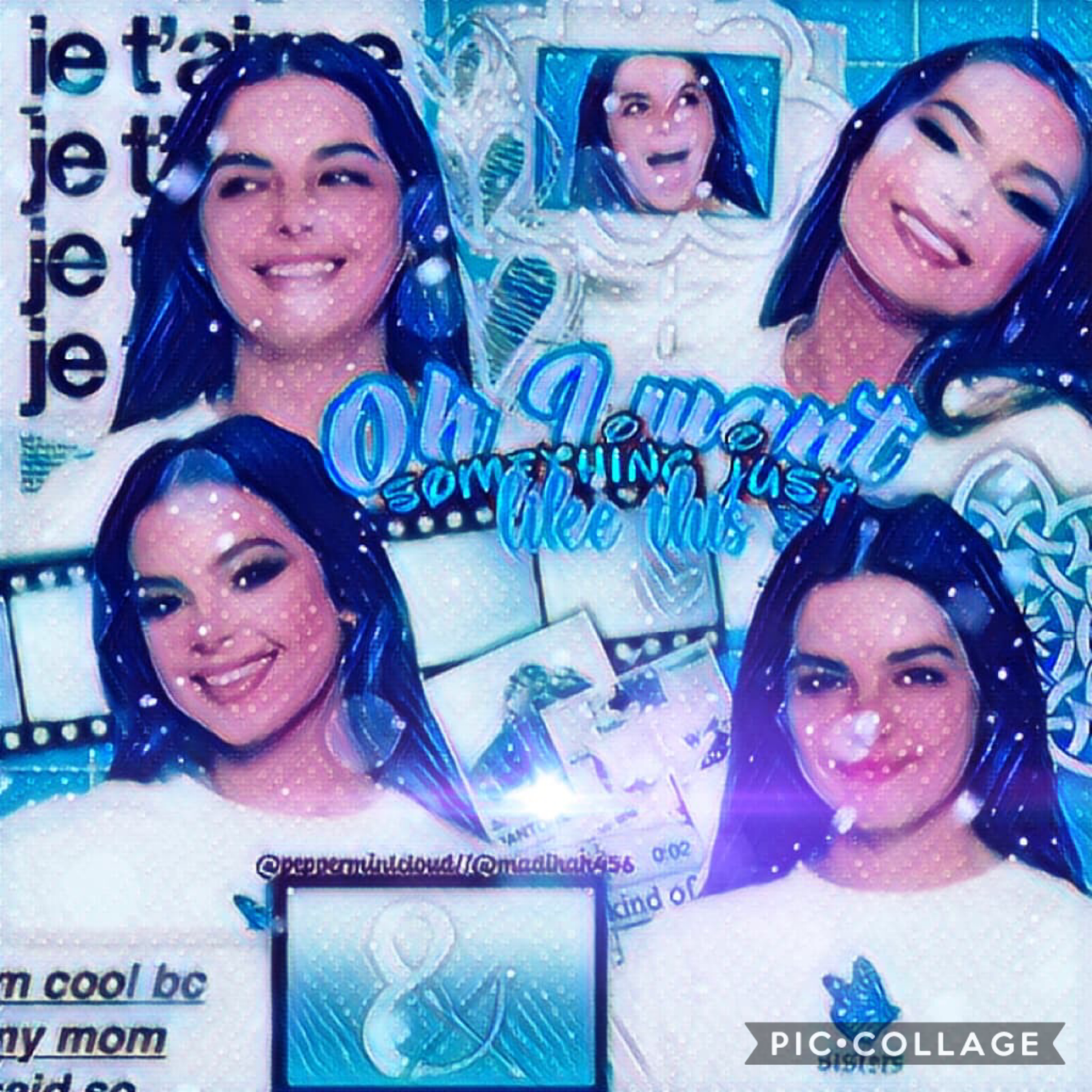 Collab with.......  the sweetest person ever, Madihah456!!🥰🥰 She did the gorgeous text and filters and I did the background💚💙 How was y'alls weekend? Did you have a good Easter?🥰🐣