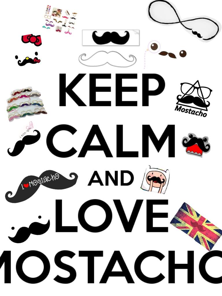 I LOVE mostachos...